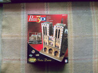 Notre Dame Cathedral 3D Challenging Puzzle 366 Pieces New