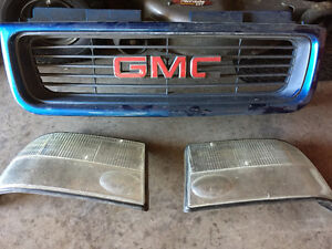 2000 S-10 front grill & head light lens.