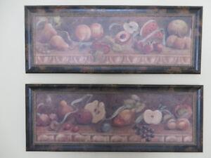 Cadre (x2) reproduction peinture sur toile 39 po x 15 po