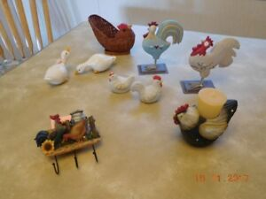 Collection of bird ornaments