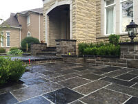 Interlock and Natural Stone Patios and Walkways
