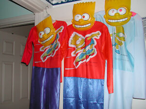 Halloween - 3 Bart Simpson cloth costumes (child sizes)