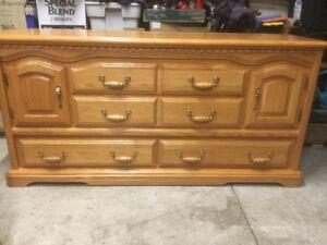 Dresser with mirror - solid oak