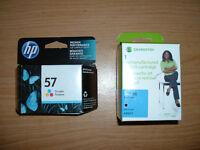 HP56 black & HP57 tri-color ink cartridge - new - unopened