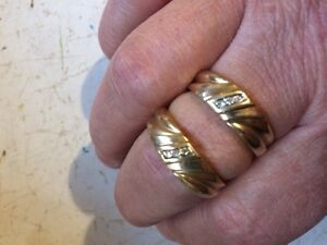 2 - 10K  Gold Rings with diamonds