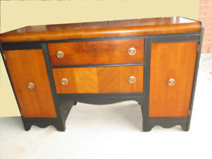 KRUG BROS. LTD Antique WALNUT Waterfall Sideboard--PERFECTION