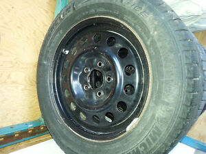 2 Sets of Winter Tires w/Black Rims London Ontario image 3