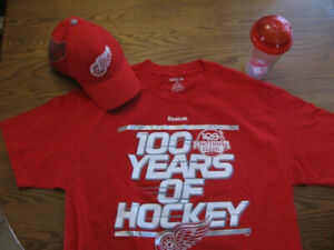 HAT / GLASS / SHIRT - DETROIT RED WINGS