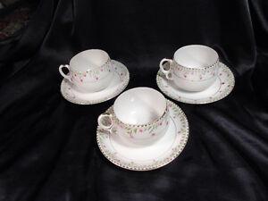 Nippon Set of 3 Tea Cups/Saucers-Japan- Peterborough Peterborough Area image 2