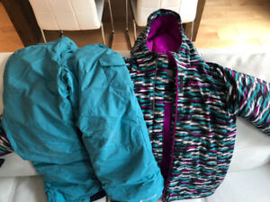 Girls Columbia winter jacket and snow pants