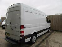 MERCEDES SPRINTER VAN 313 CDI 2.1 TD MWB EXTRA HIGH ROOF 2014 FSH NEW SHAPE VGC