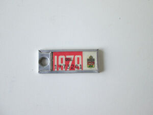 1979 Collectible KeyTag Mini license plate from Quebec West Island Greater Montréal image 1
