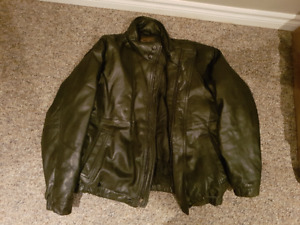 Eddie Bauer Goose Down Leather Jacket