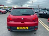 2012 12 PEUGEOT 3008 1.6 HDi ACTIVE 5 DOOR IN RED.SUPERB VALUED FAMILY MPV .