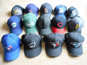 Ball Cap Hats - NHL, MLB, NFL - Blue Jays, Moose, Jets and More