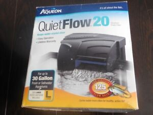 Quietflow filter 30 Gallons (never used) .