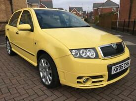 2005 SKODA FABIA 1.9 TDI 130 VRS 5 DR HATCHBACK YELLOW BARGAIN NEW M.O.T