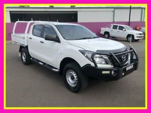 2018 Mazda BT-50 MY18 XT (4x4) White 6 Speed Manual Dual Cab Chassis Dubbo Dubbo Area Preview