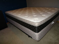Queen Size Bed and Base, with quality frame, in Whitecourt