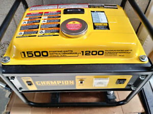 Champion Gas Generator 1500W/1200W like new