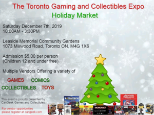 Toronto Gaming and Collectibles Expo Vendor Opportunities