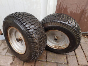 Mower wheels with tires for sale $20