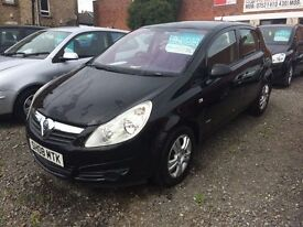 VAUXHALL CORSA 1.3 ECOFLEX DIESEL 08 REG 1 YEAR MOT 60 MPG £30 A YEAR ROAD TAX