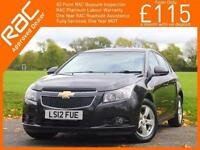 2012 Chevrolet Cruze 1.6 LT 5 Door 5 Speed Air Conditioning Parking Sensors Just