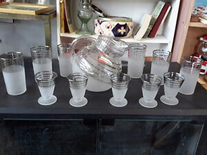 1950's MID CENTURY LIMONADE DRINK  SET GORGEOUS  !!!!!