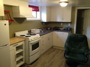 Newly renovated! 1 bdrm available in basement apartment