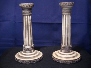 Candlestick Holders (Gold Flowers)