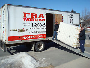 Frank's Worldwide Moving and Storage.  1 hour minimum charge . Kingston Kingston Area image 4