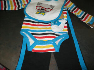 Boy's 3/6 months (Chick pea) 4pcs outfit