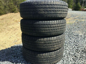 Four Michelin P245/75R16 Summer Tires