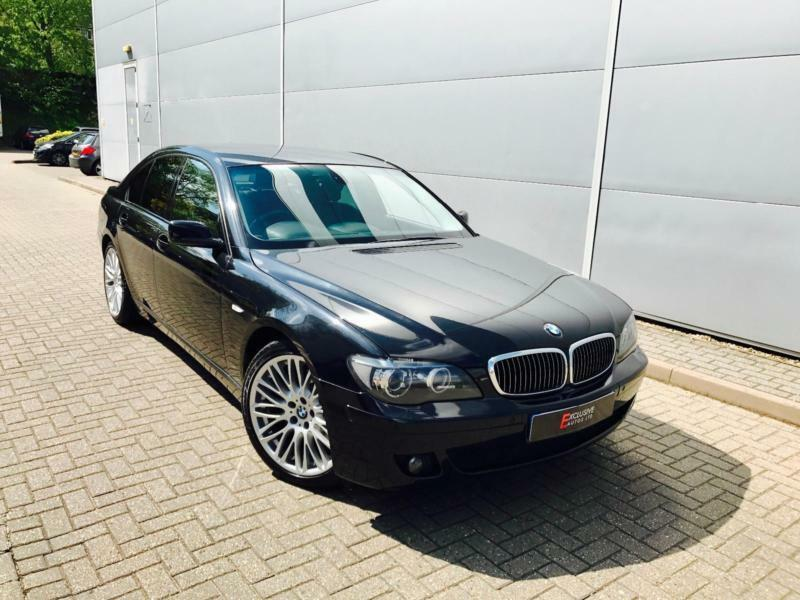 2007 57 reg BMW 730d Sport Black + Black Leather + Sat NAV + Loaded Example