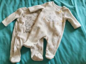 Fleece babygrows