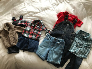 Baby boy and toddler clothes and shoes