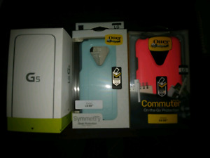 LG G5 plus 2 Otter Box Cases (one blue one pink)