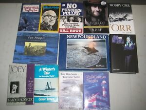 For Sale 9 Newfoundland Books + 3 Music Biographies