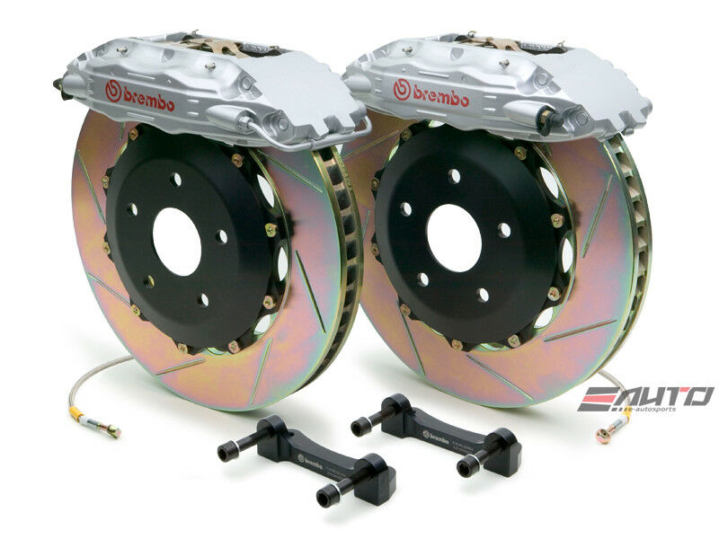Brembo Rear  Gt Brake Bbk 4pot Silver 380x32 Slot Escalade Chevy Gmc 1500 07-14