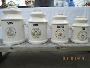 Milk Can Canister Set