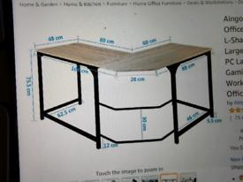 Oak Corner desk