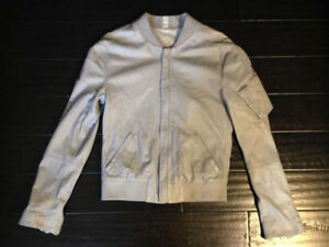 Diesel Black Gold Leather Jacket, Size Small Grey all saints
