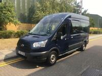 2015 Ford TRANSIT 17 Seat Mini Bus Minibus 410 ECONETIC TECH Navy 15 Seater Manu