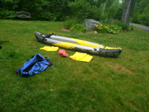 Great deal!!! Two seat Spalding inflatable kayak.
