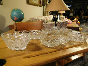antique cut glass dishes