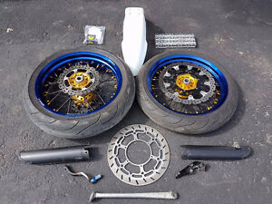 Set roue Supermotard KTM complèt