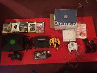 Retro Game Consoles - Dreamcast, X Box, Nintendo 64