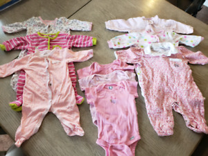 Size 0-3 months baby girl clothes