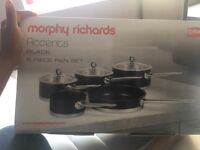 Brand New Morphy Richards 5 piece pan set